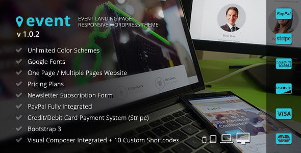 Event - WordPress Landing Page Theme - Marketing Corporate