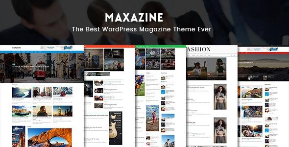 Maxazine - News, Magazine & Blog WordPress Theme - Blog / Magazine WordPress