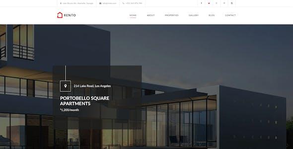 Rento - Real Estate PSD Theme