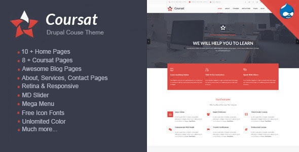 Coursat - Multipurpose Education Drupal Theme - Marketing Corporate