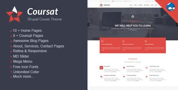 Coursat - Multipurpose Education Drupal Theme - Marketing Corporate
