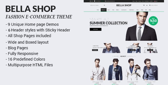 Bella Shop - Commerce Shop Drupal Theme - Fashion Retail