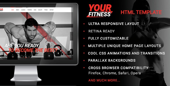 YourFitness — Sport Blog, Fitness Club, Gym Theme - Health & Beauty Retail
