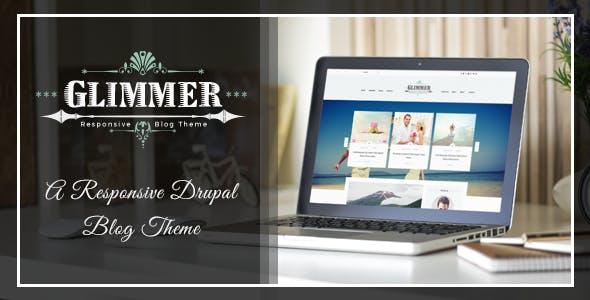Glimmer - A Responsive Blog Drupal 7.6 Theme