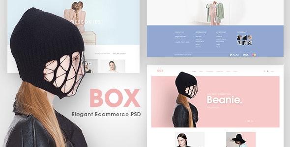BOX - Elegant Ecommerce PSD Templates - Fashion Retail
