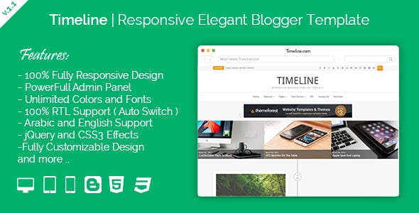 Timeline Website Templates From Themeforest
