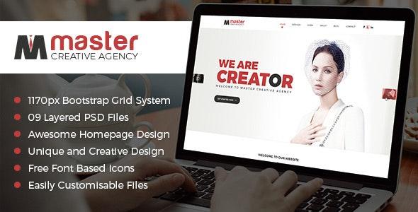 Master Creator - Photoshop UI Templates