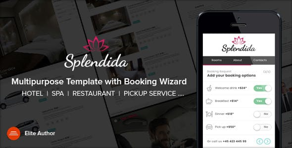 Splendida   Multipurpose template with Booking Wizard