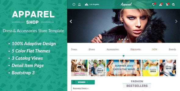 Apparel – Clothes and Accessories Store Template - Shopping Retail