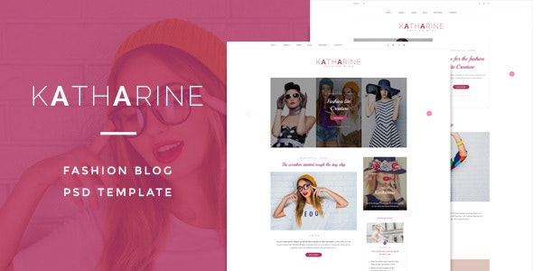 Katharine : Fashio Blog PSD Template - Creative Photoshop