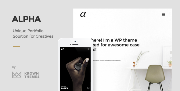 Alpha - The Unique Portfolio Theme for Creatives - Creative WordPress