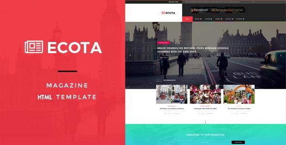 Ecota - Responsive Magazine & News HTML Template - Entertainment Site Templates