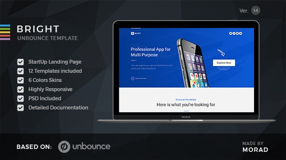 Bright - Unbounce Startup Landing Page - Unbounce Landing Pages Marketing
