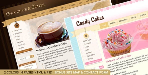 Chocolate Coffee & Cupcakes - HTML - Retail Site Templates