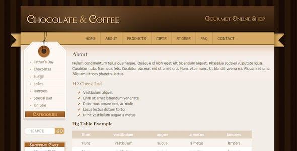 Chocolate Coffee & Cupcakes - HTML