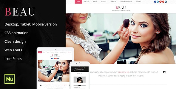 Beau - Beauty Salon Template - Miscellaneous Muse Templates