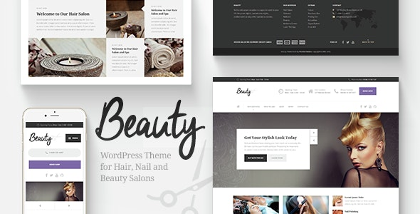 Beauty - Hair Salon, Nail, Spa, Fashion WP Theme by ProteusThemes ...