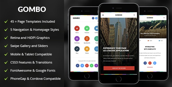 Gombo Mobile - Mobile Site Templates
