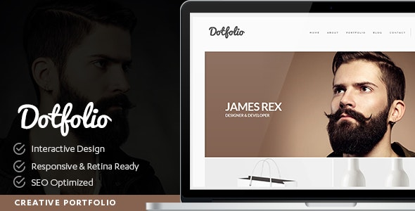Dotfolio- Creative Portfolio for Artists and Designers - Portfolio Creative