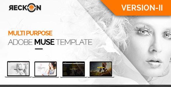 Reckon-Multipurpose Adobe Muse Template-Version-2 - Creative Muse Templates