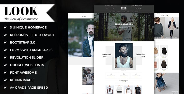 Look - Responsive E-commerce HTML5 Template - Fashion Retail