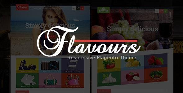 Flavours - Fruit Store, Fashion Store Responsive Magento Theme - Shopping Magento