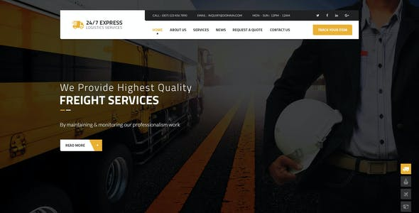 24/7 Express  Logistics Services PSD