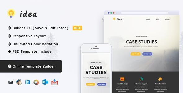Idea Responsive Email And Newsletter Template Newsletters Templates