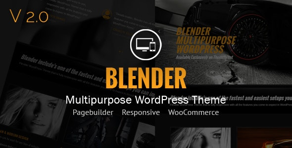 Blender WordPress Portfolio Theme - Creative WordPress