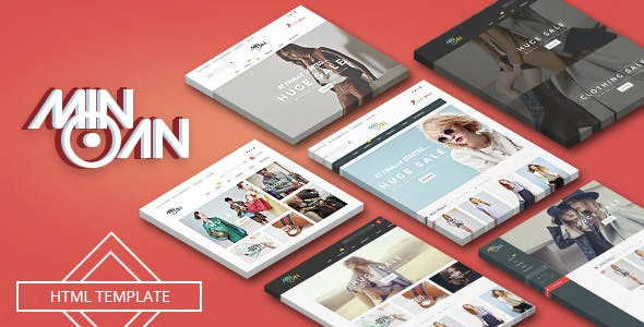 Fashion Shop HTML Template Based on Bootstrap 5 - Minoan