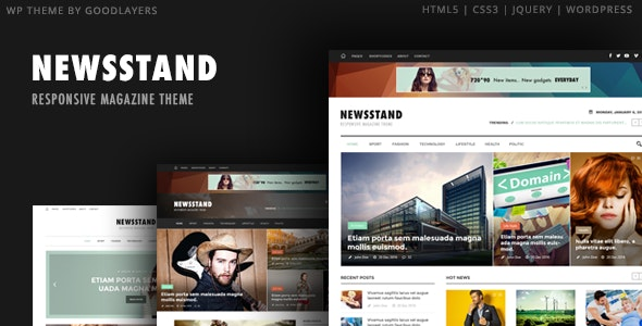 Newsstand - Magazine & Editorial WordPress - Blog / Magazine WordPress