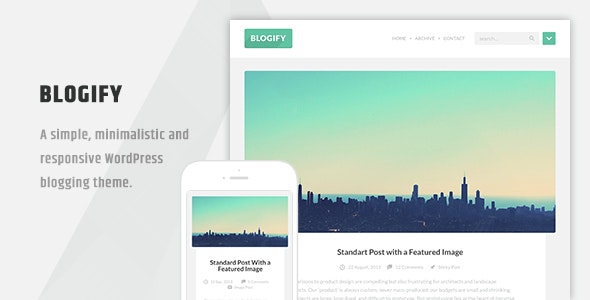Blogify - Flat Responsive WordPress Blog Theme - Blog / Magazine WordPress