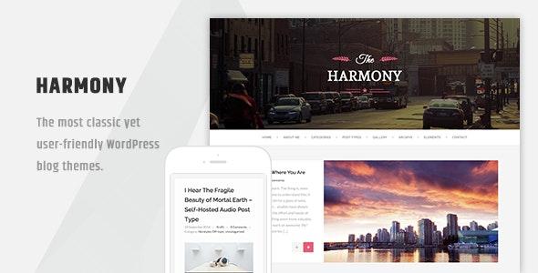 Harmony - Clean Responsive Wordpress Blog Theme - Personal Blog / Magazine