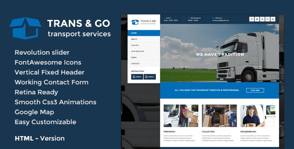 TransGo - Transport & Logistics HTML5 Template