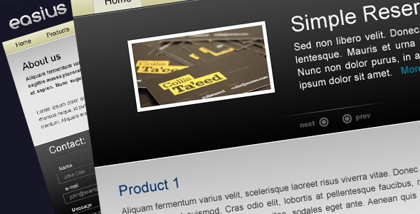 Easius | Products Showcase - Corporate Site Templates