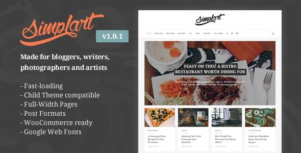 Simplart - Responsive WordPress Blog Theme - Blog / Magazine WordPress