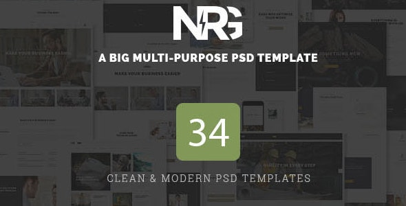 NRG - A Big Multi-Purpose PSD Template - Creative Photoshop
