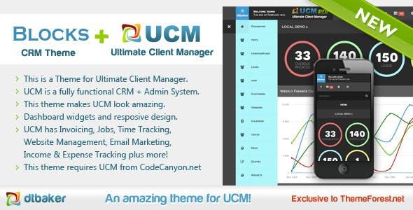 UCM Theme: Blocks CRM