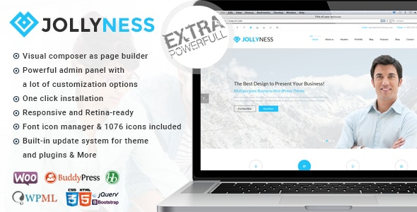 Jollyness - Multi Purpose WordPress Theme - Corporate WordPress