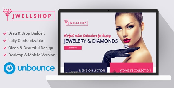 Jwell Shop - Unbounce Landing Page Template - Unbounce Landing Pages Marketing