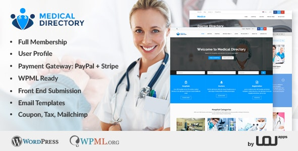 Medical Directory - Hospitals & Doctors Listing Theme - Directory & Listings Corporate