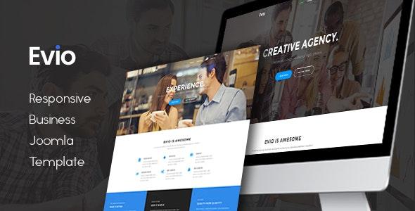 Evio - Responsive Business Creative Joomla Template - Joomla CMS Themes