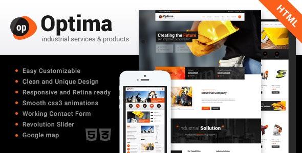 Optima | Industrial Site Template - Business Corporate