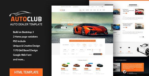 Auto Club - Car Dealer HTML Theme - Retail Site Templates