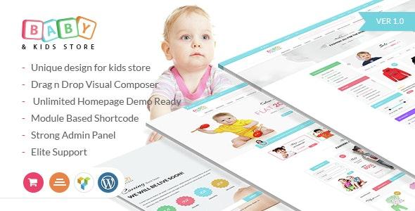 Baby & Kids Store eCommerce Woocommerce WordPress Theme - WooCommerce eCommerce