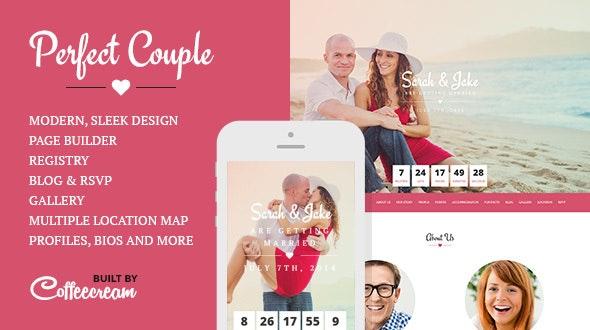 Perfect Couple - Wedding WordPress Theme - Wedding WordPress