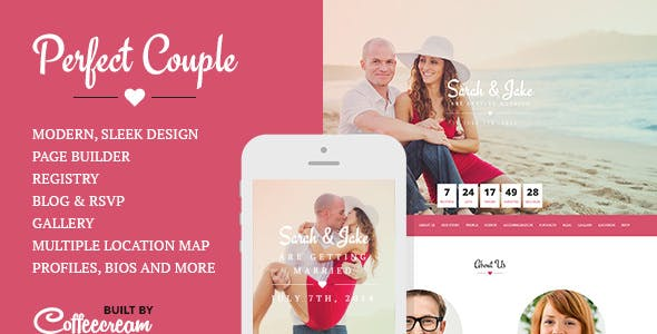Perfect Couple - Wedding WordPress Theme