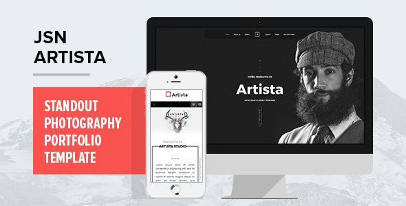 JSN Artista - Standout photography portfolio template - Photography Creative