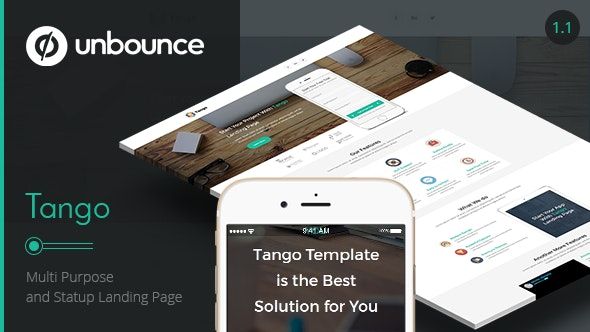 Tango - Multi-Purpose Unbounce Landing Page - Unbounce Landing Pages Marketing
