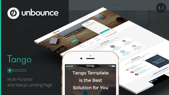 Tango - Multi-Purpose Unbounce Landing Page - Unbounce Landing Pages Marketing